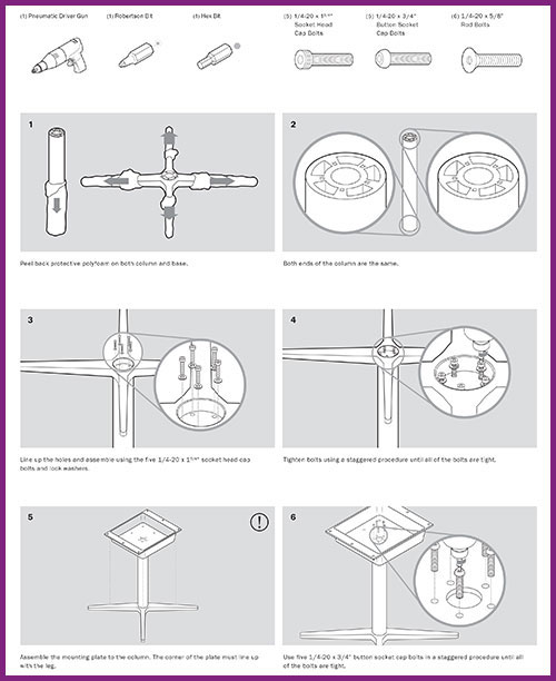 Table Installation Instruction Manual  Leanne Kroll